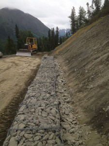 Bank stabilization in lakeview ridge subdivision 1